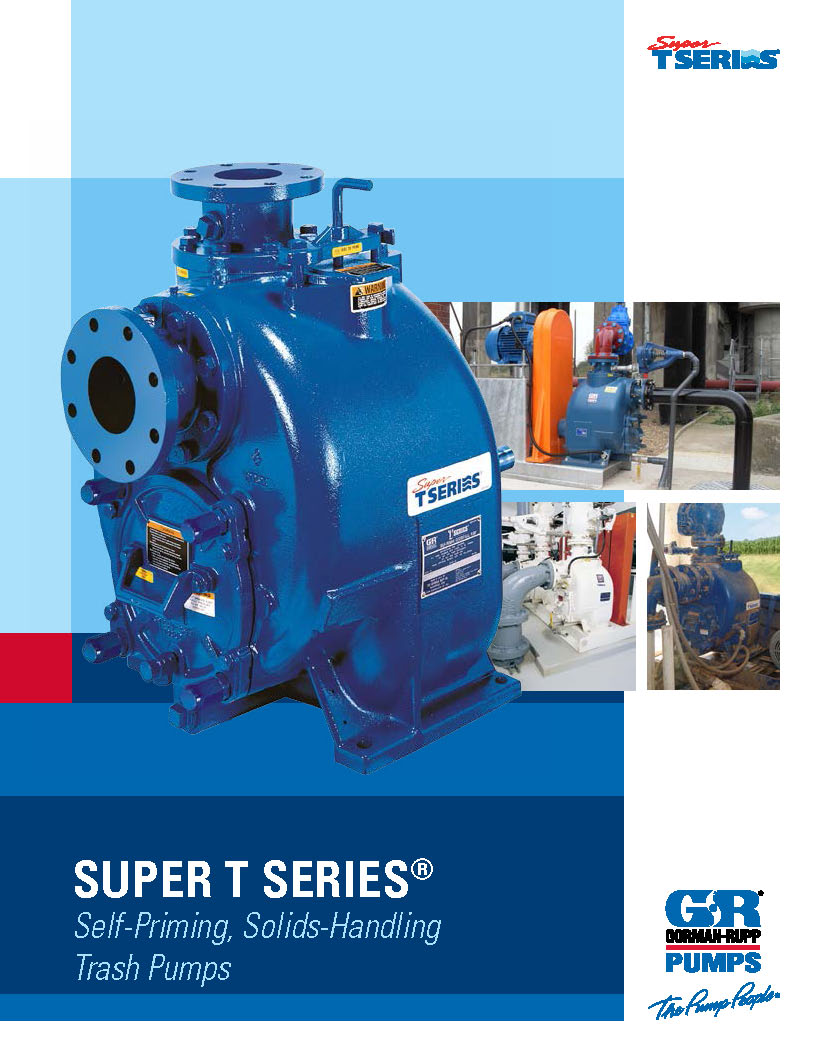Gorman-Rupp Self-Priming, Solids-Handling Pumps brochure pdf