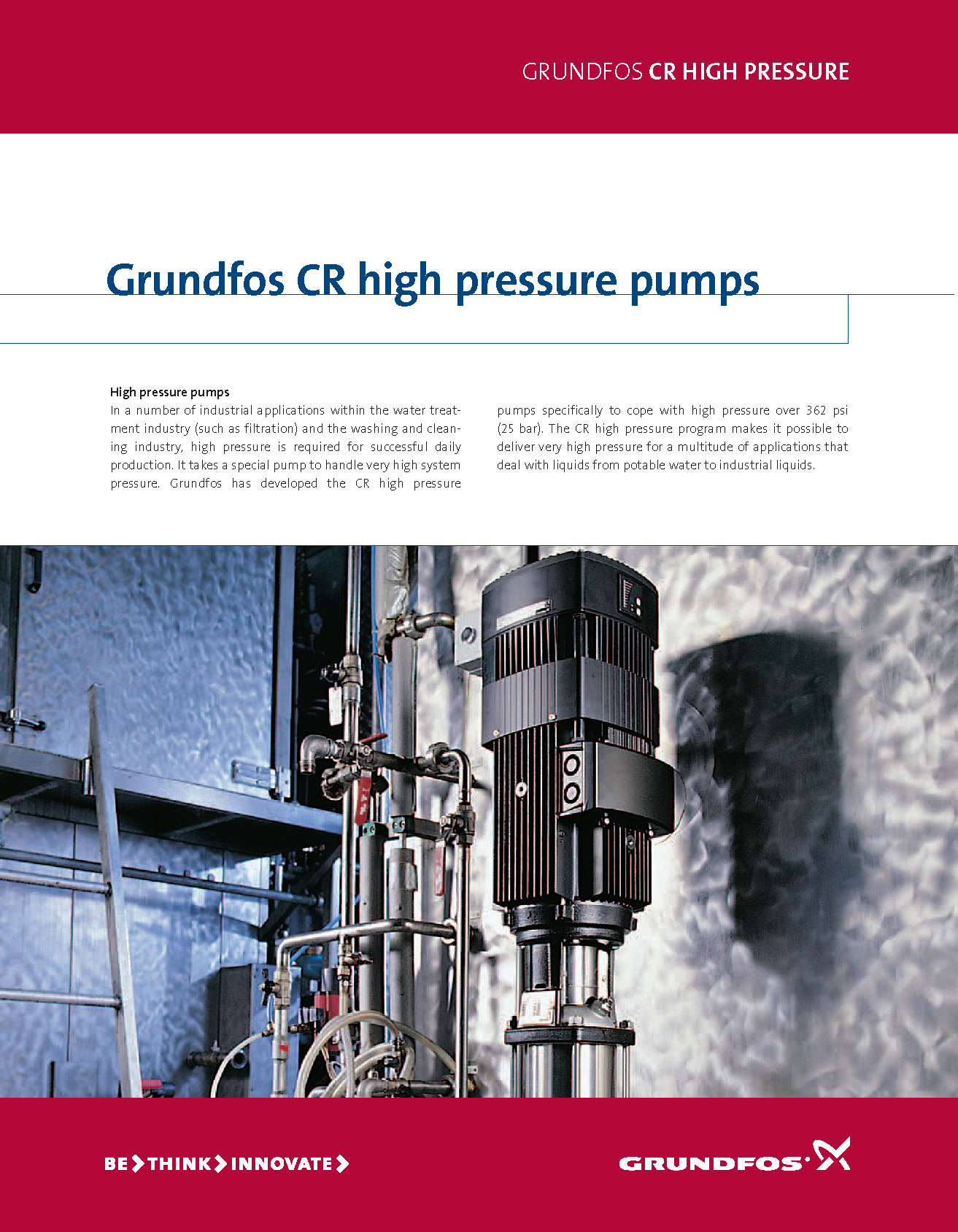 GRUNDFOS CR high pressure pumps BROCHURE pdf