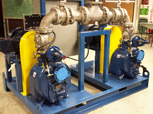 Dual Gorman-Rupp Super T Series pumps