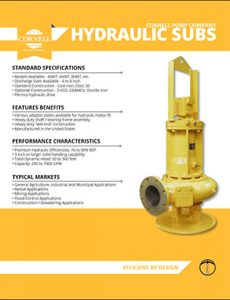 Cornell Hydraulic Submersible Detroit Pump pdf