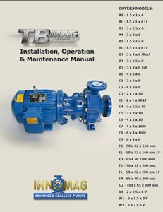 Flowserve Innomag Advanced Sealless pumps TBmagManual Detroit Pump pdf