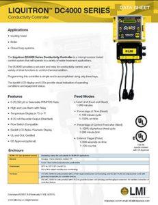 LMI DC4000 Conductivity Controller brochure Detroit Pump pdf