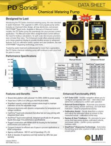 LMI PD Series chemical metering pump brochure Detroit Pump pdf