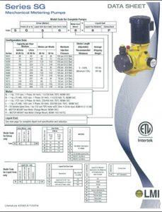 LMI SG Series mechanical metering pump brochure Detroit Pump pdf