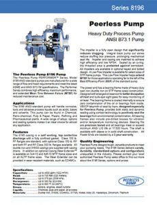 Series 8196 Peerless Pump Detroit Pump pdf