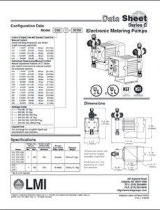 Electronic Metering Pumps LMI Series C brochure Detroit Pump