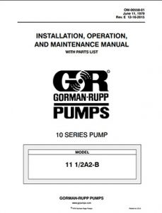 Gorman-Rupp 10 Series IOM brochure pdf Detroit Pump