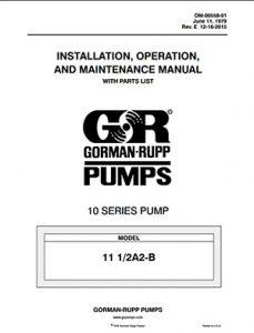 Gorman-Rupp 10 Series IOM brochure pdf Detroit Pump