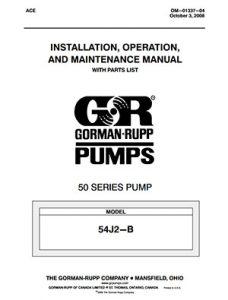 Gorman-Rupp 50 Series IOM brochure pdf Detroit Pump