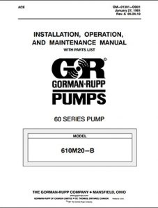 Gorman-Rupp 60 Series IOM brochure pdf Detroit Pump