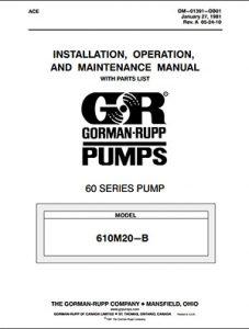 Gorman-Rupp 60 Series IOM brochure pdf Detroit Pump
