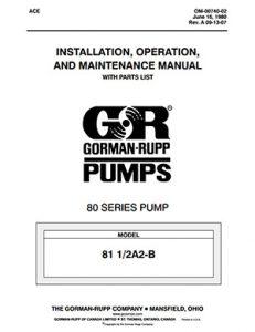 Gorman-Rupp 80-Series IOM brochure pdf Detroit Pump