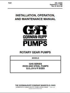 Gorman-Rupp GHS Series IOM brochure pdf Detroit Pump