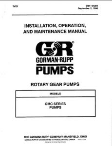 Gorman-Rupp GMC Series IOM brochure pdf Detroit Pump
