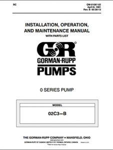 Gorman-Rupp O Series IOM brochure pdf Detroit Pump