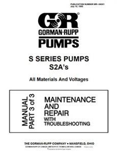 Gorman-Rupp S Series Maintenance brochure pdf Detroit Pump