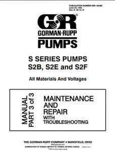 Gorman-Rupp S Series Slim Maintenance brochure pdf Detroit Pump
