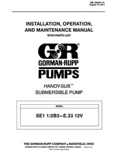 Gorman-Rupp SE Series IOM brochure pdf Detroit Pump