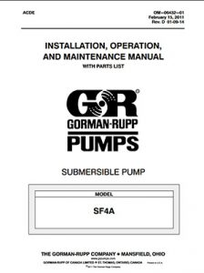 Gorman-Rupp SF Series IOM brochure pdf Detroit Pump