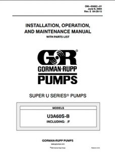 Gorman-Rupp Super U-Series IOM brochure pdf Detroit Pump