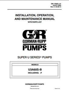 Gorman-Rupp Super U-Series IOM brochure pdf Detroit Pump
