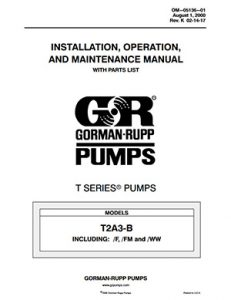 Gorman-Rupp T-Series IOM brochure pdf Detroit Pump