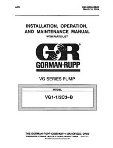 Gorman-Rupp VG Series IOM brochure pdf Detroit Pump
