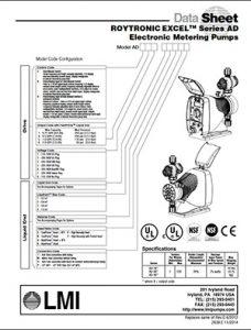 LMI Excel AD Pump brochure Detroit Pump