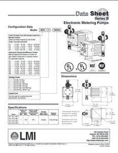 LMI Series B Electronic Metering Pumps brochure Detroit Pump