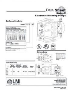 LMI Series E metering pump brochure pdf Detroit Pump