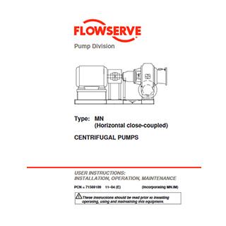 Flowserve MN Horizontal centrifugal pump manual