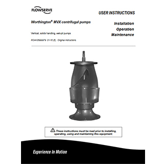 Flowserve MVX centrifugal pump manual