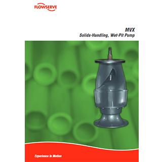 Flowserve MVX solids handling wet pit pump